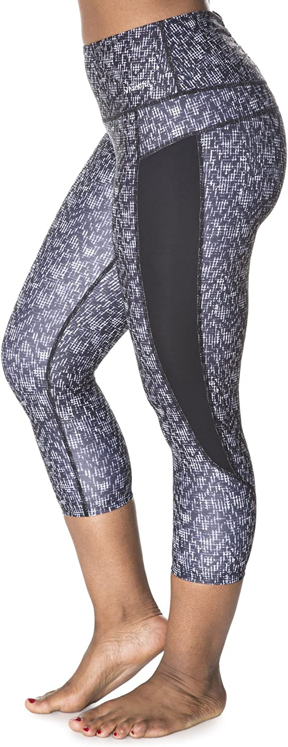 Handful Women's Squeeze Play HighWaisted Workout Capri Leggings w Pocket, Yoga Activewear