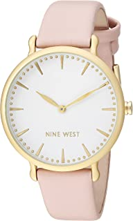 Nine West Women's NW/2110WTPK Gold-Tone and Light Pink Strap Watch