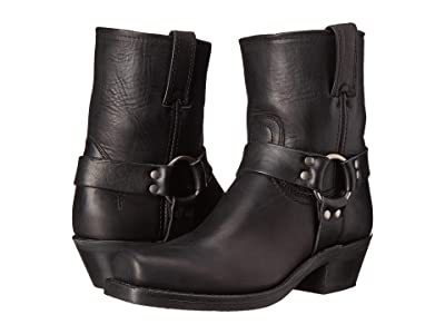 Frye Harness 8R (Black Washed Oiled Vintage) Women