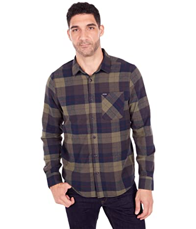 Volcom Caden Plaid Long Sleeve (Army Green Combo) Men