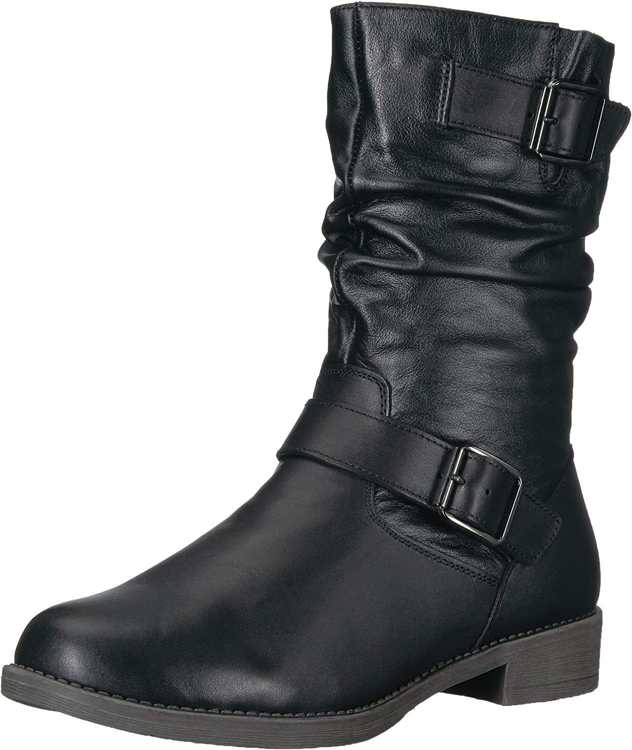 Propet Women's Tatum Slouch Mid Calf Boot, Black, 11 Wide Wide US