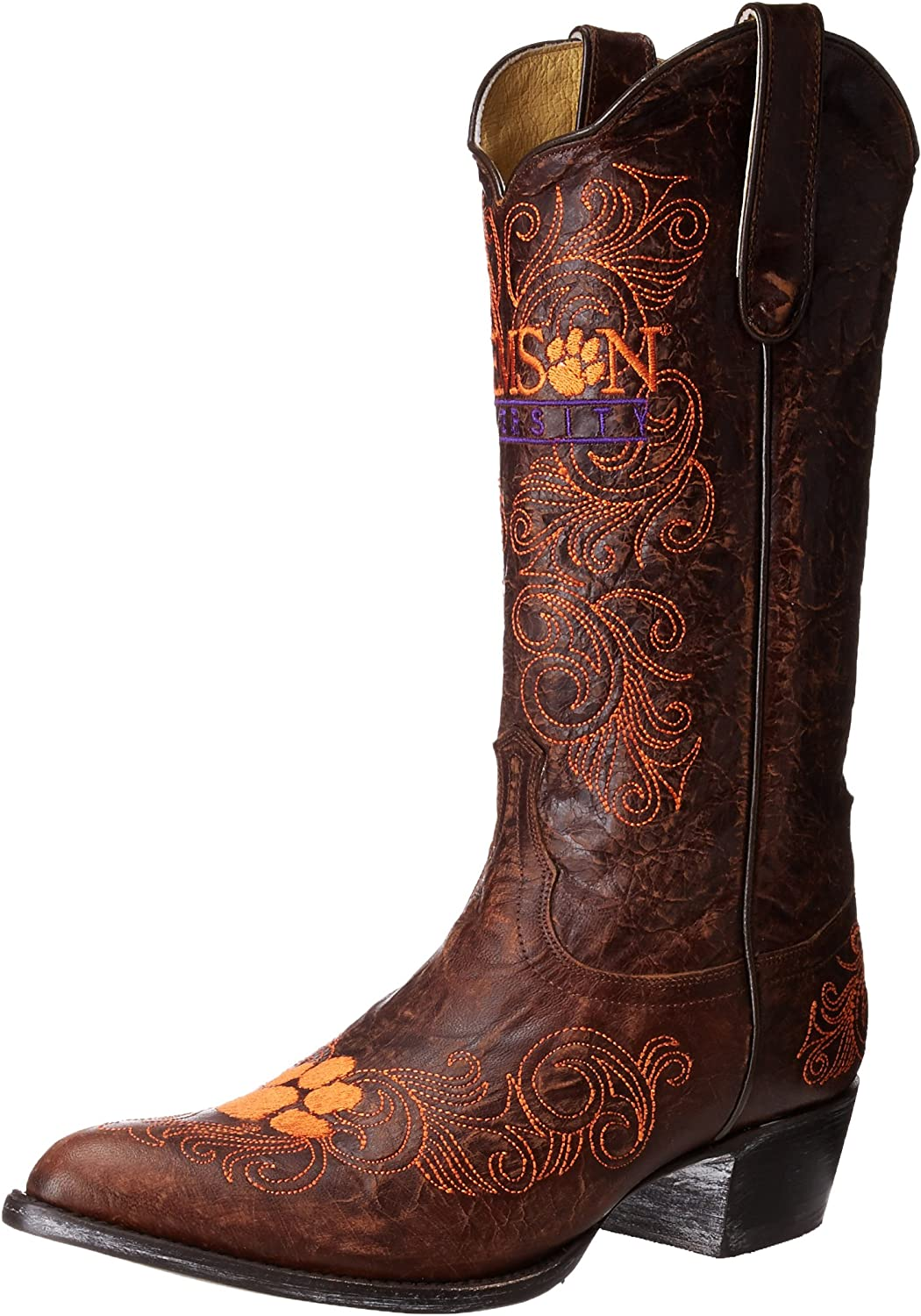 Gameday Women's Clemson University Cowgirl Boot Pointed Toe - Cl L035-1