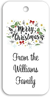 Merry Christmas Custom Personalized Gift Tags - 1.5