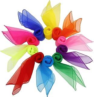 comprar comparacion FT-SHOP Pañuelos de Baile 20 Piezas Pañuelos de Malabares Multicolor Cuadrado Pañuelos Mágicos de Seda para Niños Chicas A...