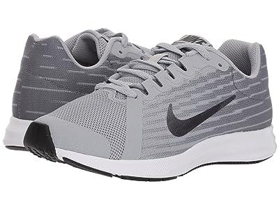 Nike Kids Downshifter 8 Wide (Big Kid) (Wolf Grey/Metallic Dark Grey/Cool Grey/Black) Boys Shoes