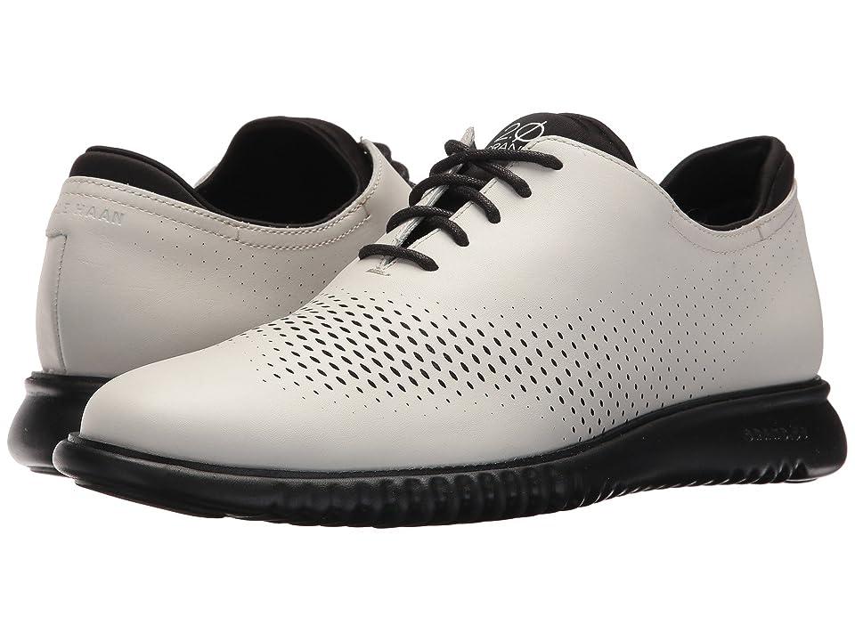 Cole Haan 2.Zerogrand LSR Wing (Optic White Leather/Black) Men