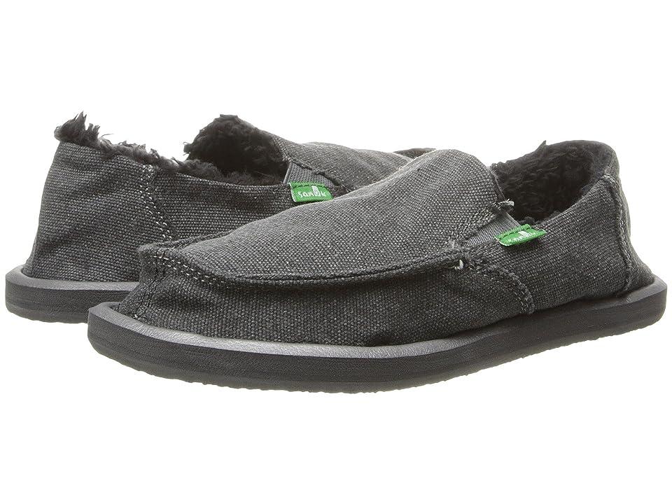 Sanuk Kids Vagabond Chill (Little Kid/Big Kid) (Charcoal) Boys Shoes