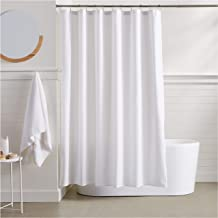 Amazon Basics Waffle Texture Shower Curtain - 72 Inch, White