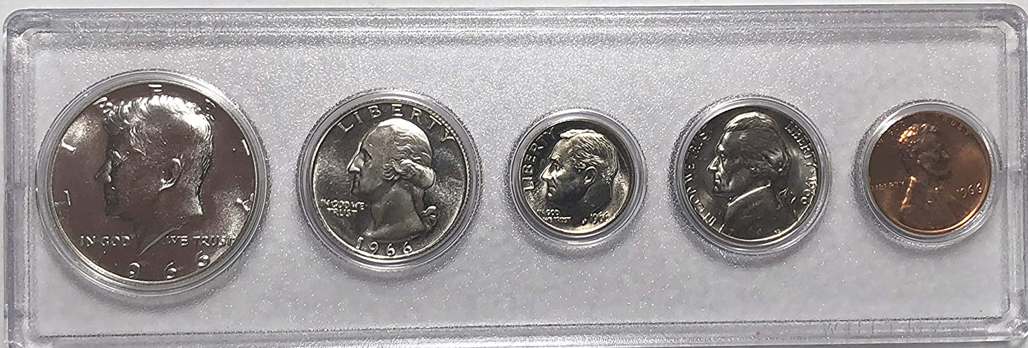 1966 P US Silver Mint Set Comes in Case Uncirculated Hard Special Campaign Ranking TOP15