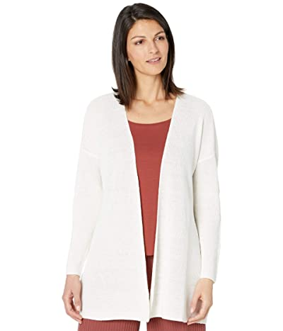 Eileen Fisher Organic Linen Cotton Boxy Cardigan (White) Women