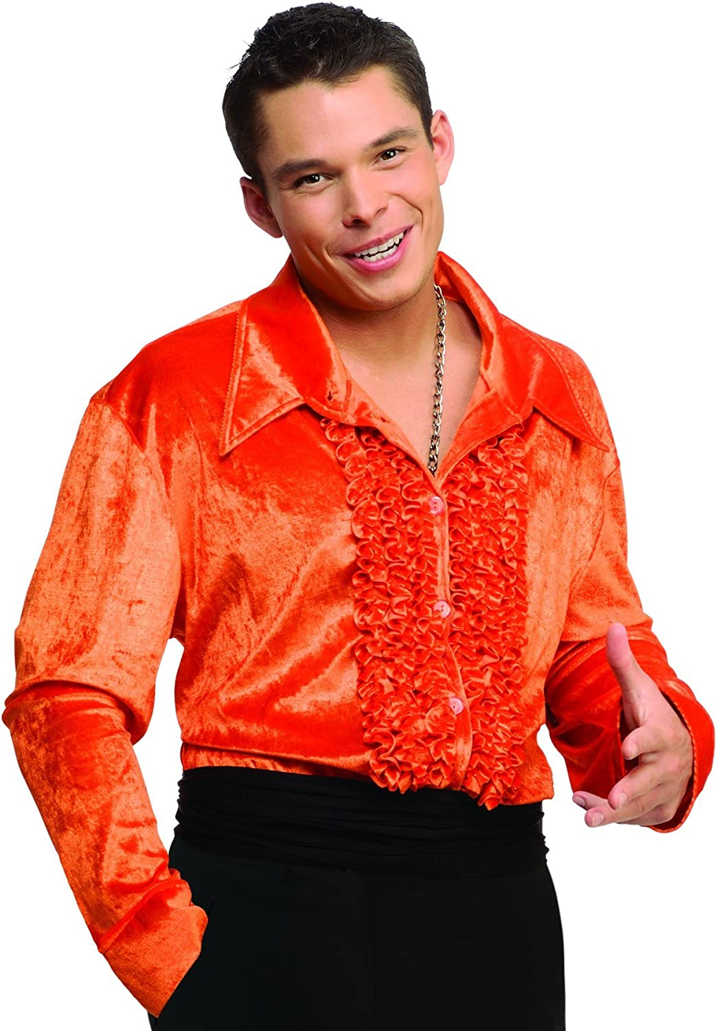 Beauty products Adult Velvet Disco Selling and selling Costume Shirt in Orange