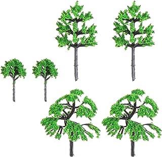 TOYANDONA 30 st blandade modeller träd dioramaträd tåg landskap arkitektur mini falska träd järnväg landskap gran träd för...