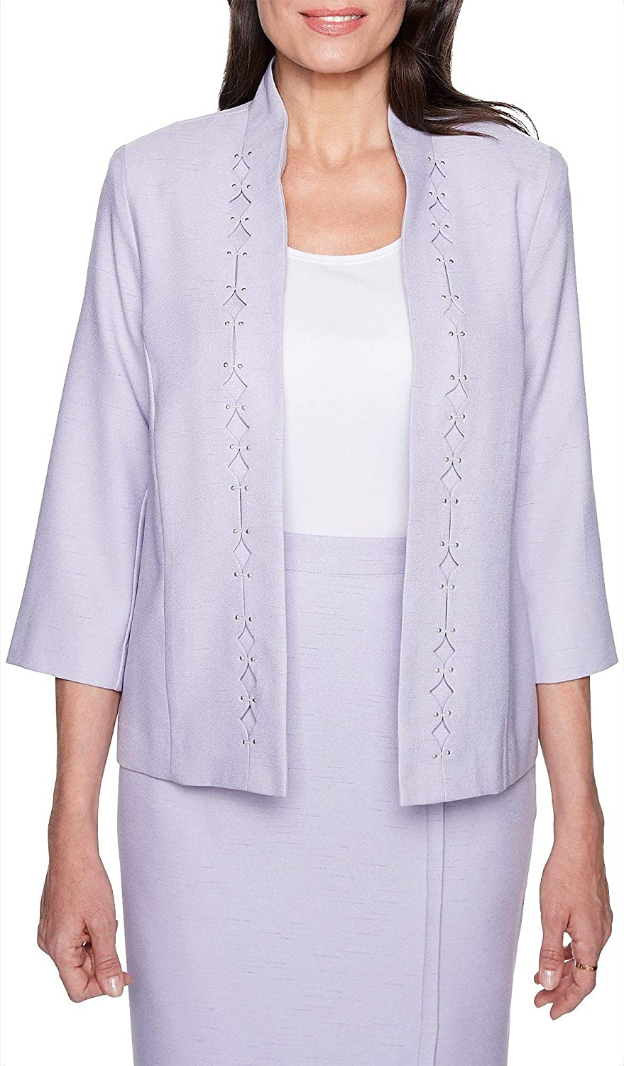 Alfred Dunner Diamond Cut Out Jacket