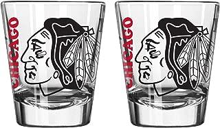 Boelter Brands NHL Chicago Blackhawks Spirit Shot Glass, 2-Ounce, 2-Pack