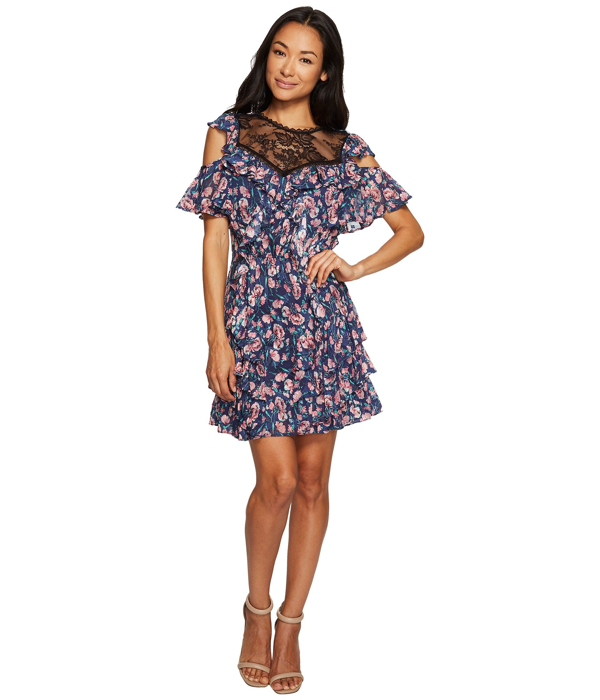 Open Shoulder Tea Rose Dress