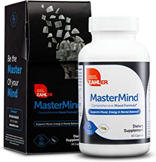 Zahler Mastermind, Comprehensive Mood Formula, Supports Mood Relaxation and Mental Balance, Certified Kosher, 60 Capsules