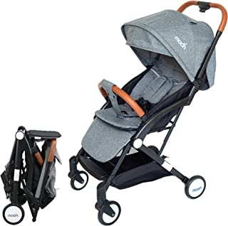 Moon Ritzi Ultra light weight/Compact fold/ Travel Cabin (suitable for Air travel) Stroller/Pram/Push Chair suitable for n...