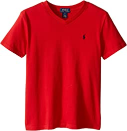 Polo Ralph Lauren Kids 20/1's Jersey V-Neck Tee (Little Kids/Big Kids)