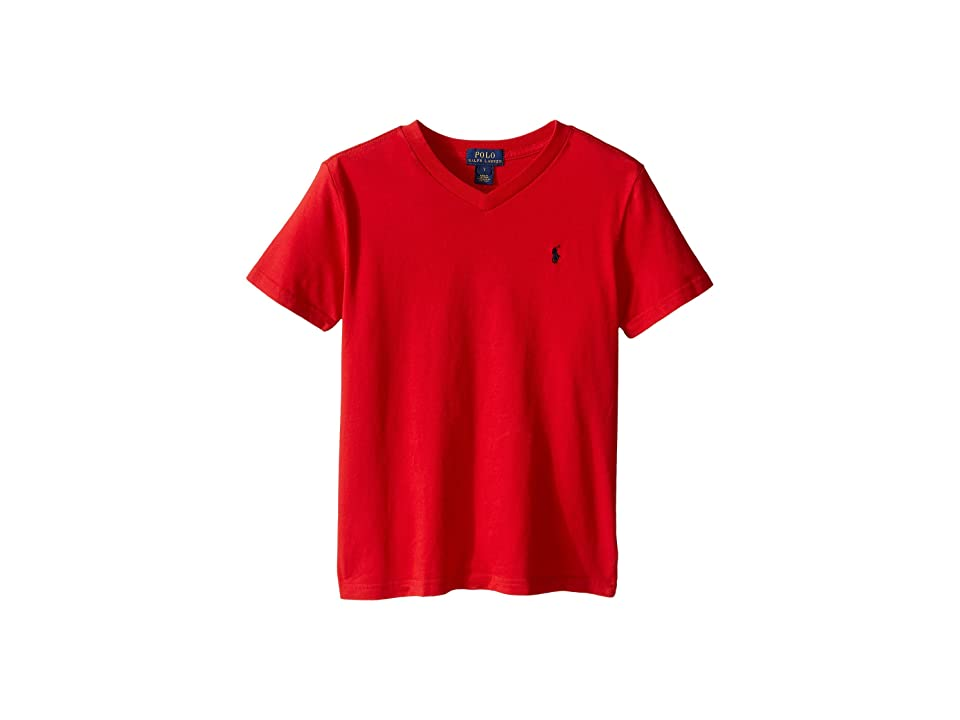Polo Ralph Lauren Kids - Polo Ralph Lauren Kids 20/1's Jersey V-Neck Tee