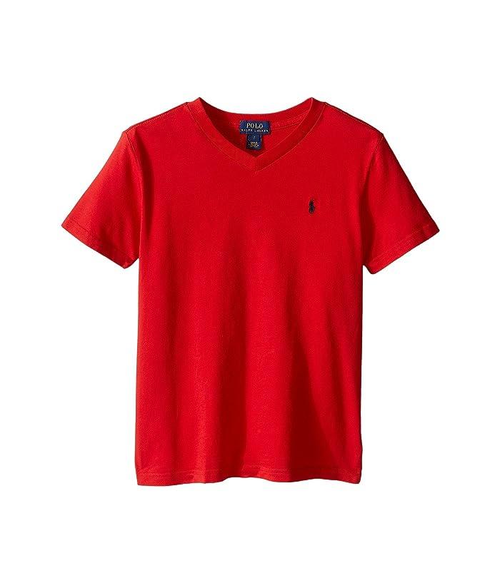 Polo Ralph Lauren Kids 20 1 S Jersey V Neck Tee Little Kids Big Kids