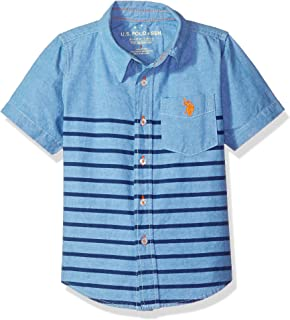 U.S. Polo Assn. Boys' Short Sleeve Striped Sport Shirt