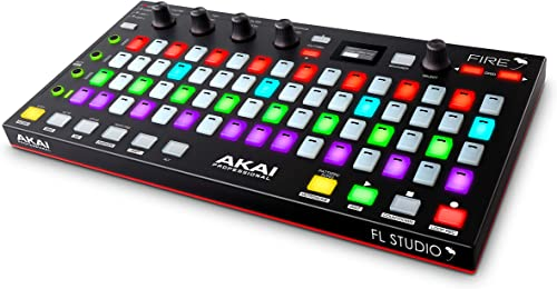 AKAI Professional Fire (Controller Only) – USB MIDI Controller for FL Studio with 64 pad RGB Clip / Drum Pad Matrix