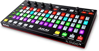 Akai Professional Fire | Performance Controller for FL Studio With Plug-And-Play USB Connectivity, 4 x 16 Velocity-Sensitive RGB Clip Matrix, OLED Display and FL Studio Fruity Fire Edition Included