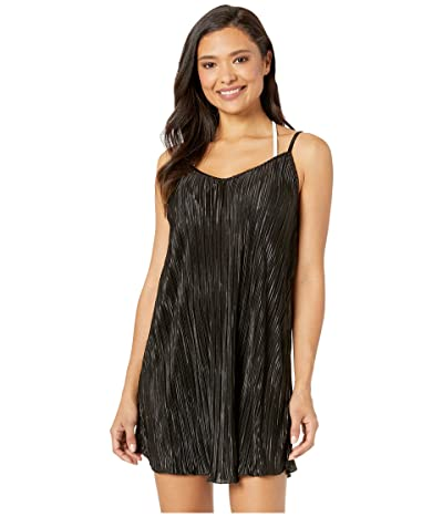 Kenneth Cole Pleated Perfection Slip Dress Cover-Up (Black) Women