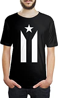 UmaAura Puerto Rico Black and White Flag Unisex T Shirt