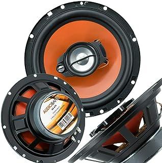 """Pair of Audiobank 6.5"""" 600 Watt 3-Way Orange Car Audio Stereo Coaxial Speaker - AB674 photo"""
