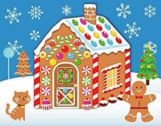 Make-A-Gingerbread House Stickers for Kids - Christmas Party Game/Craft/Activity/Favor/Supplies - 13 Finished Products
