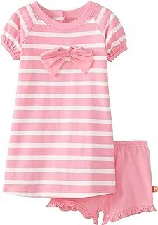 Magnificent Baby 女童条纹连衣裙,带蝴蝶结