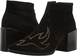Black Leather Suede