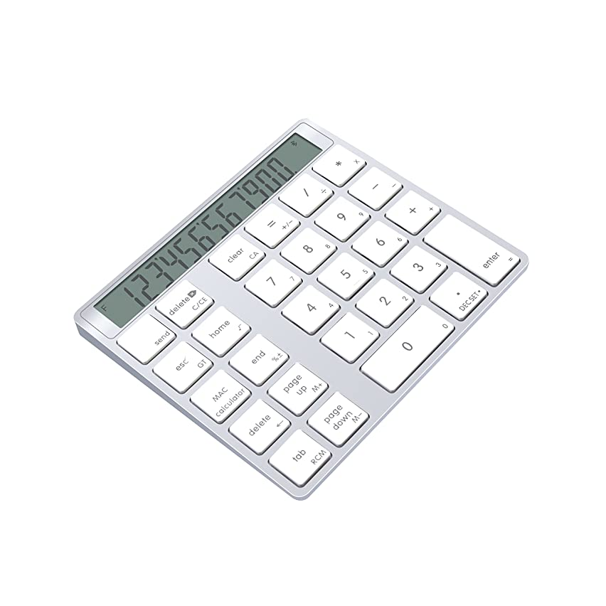 やめるジョセフバンクス魅力的であることへのアピールCateck アルミニウム製 電卓機能付きワイヤレス 28キーのスマートテンキー/数字キーッパッド、MacとPC向けのデザイン (充電式)
