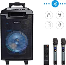 Wireless Portable PA Speaker System Karaoke Machine Rechargeable Bluetooth Karaoke Speaker System for Party, Class use, Outdoor Activity, Public Speaking and Stage Performance