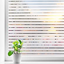 Coavas Frosted Window Film Privacy Blinds Glass Film Decorative Non-Adhesive Static Cling Anti UV Home Office Kids Window ...