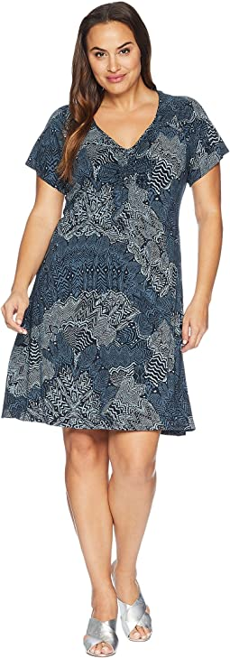 Plus Size White Tides Emma Dress
