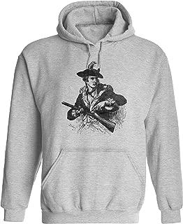 Unisex Mens Revolutionary War Soldier Pullover Hooded Sweatshirt