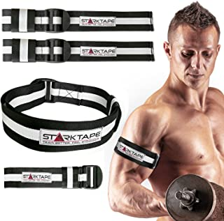 Blood Flow Restriction Bands. 4 Pack Occlusion Bands, Two Inch Width for Arms and Legs Training. Gain Fast Muscle Growth Without Lifting Heavy Weights - Strong Elastic Biceps Straps