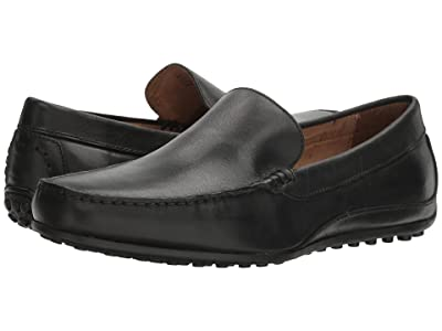 Florsheim Oval Venetian Driver (Black Smooth) Men