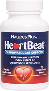 NaturesPlus Heartbeat - 90 Vegan Tablets - Cardiovascular Support Supplement with Vitamins, Minerals & Herbs, Promotes Hea...