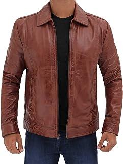 Brown Leather Jacket Men - Black Real Lambskin Mens Leather Jacket