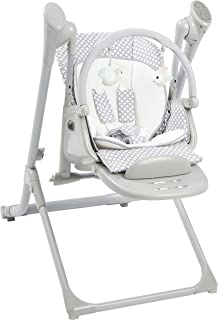 Primo 2-in-1 Smart Voyager Convertible Infant Swing and High Chair with Bluetooth, Grey