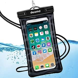 Deamo 完全防水ケース 水に浮く iPhone Xs Max/8/7/6/Plus、Xperia、Samsung等6インチまでの全機種対応、海 プール お風呂 ダイビング 釣り 砂浜 水遊び等で大活躍 高級ネックスト ラップ付属 防水ポーチ スマホ用防塵・防水ケース