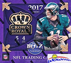 2017 Panini Crown Royale NFL Football EXCLUSIVE Factory Sealed Retail Box with TWO (2) AUTOGRAPH/MEMORABILIA Cards! Look for Rookies & Autographs of Deshaun Watson, Alvin Kamara & Many More! WOWZZER!