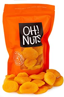 Oh! Nuts Dried Turkish Apricots | 2lb Bulk Bag of Fresh Dehydrated Sweet Apricot Pieces for Snacking & Baking | No Sugar A...
