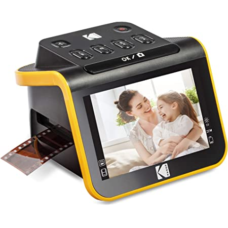 "KODAK Slide N SCAN Film and Slide Scanner with Large 5"" LCD Screen, Convert Color & B&W Negatives & Slides 35mm, 126, 110 Film Negatives & Slides to High Resolution 22MP JPEG Digital Photos"