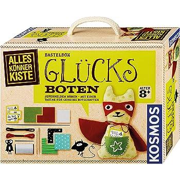 KOSMOS 604233 AllesKönnerKiste Glücks-Boten. DIY-Bastelset für Mädchen und Jungen ab 8 Jahren, das ideale Geschenk-Set für den Kindergeburtstag
