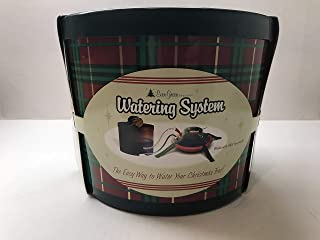My Perfect Nights Ever-Green Seasons Christmas Tree Watering System, Round Plaid Gift Box with Red Bow