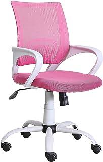 sillas juveniles de escritorio en rosa y blanco